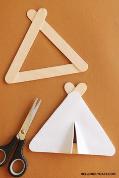 Popsicle Stick Hajj Tents Craft by Hello Holy Days! Bible Crafts For Kids, Bible Lessons For Kids, Vbs Crafts, Crafts For Girls, Preschool Crafts, Popsicle Stick Crafts, Popsicle Sticks, Craft Stick Crafts, Craft Sticks