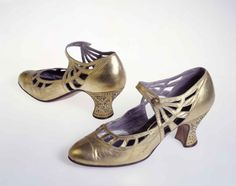 Art Deco Shoes - 1925 - Belonged to a certain Countess Nina de Hamong - Made by…