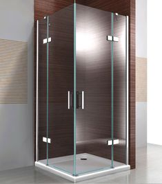Dusche Shower cabin corner shower 8 mm nano real glass - width selectable - picture 1 Tips For Corner Shower Doors, Wood Deck Railing, Douche Design, Looking For Houses, Shower Cabin, Getting Rid Of Clutter, Out Of The Closet, Large Homes, Home Staging