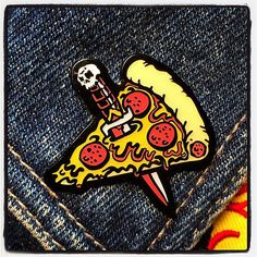 Introducing... the PIZZA KNIFE enamel pin!!! Get yours now in the PORK SHOP! #pizzaknife #enamelpins #porkshop | Flickr - Photo Sharing!
