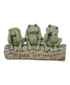 Take a look at the Frogs On A Log Figurine on #zulily today!