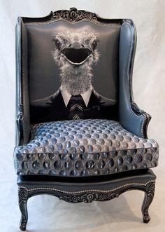 ostrich chair! hahahahaha!