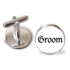 Groom  Cufflinks Tieclip Lapel pin or Keyring  by JackiesBridal