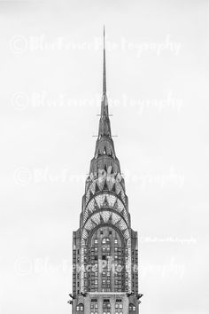 Top of the Chrysler Building, Architectural Photography, Black and White, New York City Art, NY Print, Manhattan, Wall Art, Sizes Available from 5x7 to 20x30. The top of the Chrysler building, this beautiful building is a true Art Deco Masterpiece. ***Photo comes un-matted and un-framed. Photos are shown in a room setting and are for size comparison. Last photo is a size comparison chart, is not the photo you are purchasing. Depending on the size you choose there may be some cropping of…