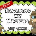 """""""Tracking My Writing"""" Clip Chart (Detective Theme Writing Process Posters)  Students and teachers will use this cute detective theme tracking chart..."""