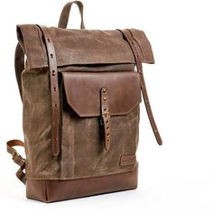 canvas leather backpack - Google Search