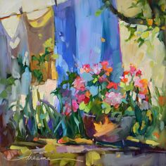 """Sunny Monday in France""  Artist Dreama Tolle Perry"