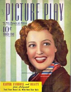 "Jeanette MacDonald on the cover of ""Picture Play"" magazine, USA, March 1940."