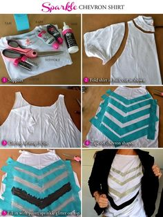 WobiSobi: Re-Post: No Sew Chevron Shirt.