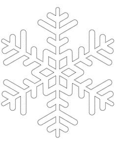 Snowflake template 1 - Free Printable Coloring Pages: