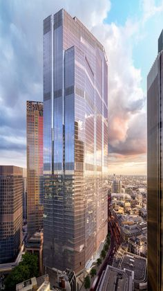 At 22 Bishopsgate, architects have created a skyscraper with new technology woven into every aspect of the design Futuristic Architecture, Amazing Architecture, Interior Architecture, Chinese Architecture, Futuristic Technology, Technology Design, Technology Gadgets, Technology Gifts, Medical Technology