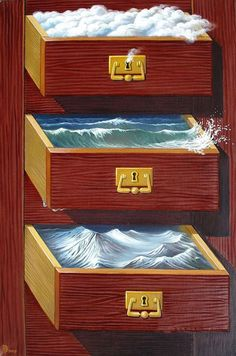 Made by: Gennady Privedentsev  -  surrealism (drawers with keyholes)