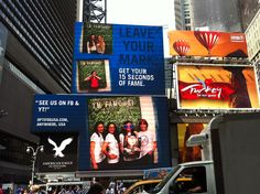 The Optifog team made their way onto a billboard in Times Square