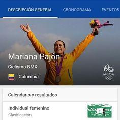Felicitaciones Mariana Pajon eres un gran ejemplo.  Gracias campeona