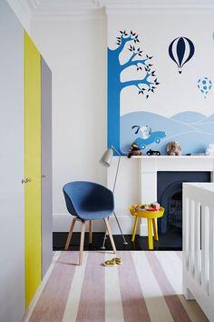 Striped Floor & Wall Mural - Kids' Bedroom Ideas (houseandgarden.co.uk)