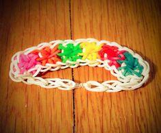 MultiColored Starburst Rainbow Loom Bracelet by DreamRainbow, $8.00