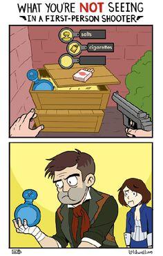 Bioshock Infinite Logic - http://geekstumbles.com/funny/bioshock-infinite-logic/