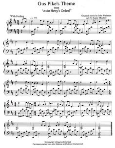 Dude! Gus Pike's theme! Been looking for this sheet music for a while! Love <3