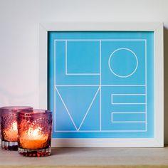 Blue Love Print Romantic Print Romantic Gift by DazzlingDandelion