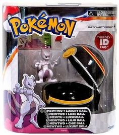 "Amazon.com: TOMY Pokemon Clip 'N"" Carry Pokeball ~ Mewtwo Figure & Pokeball: Toys & Games"