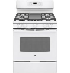 GE Appliances Convection Free-standing Gas Range with Griddle Finish: White Self Cleaning Ovens, Steam Cleaning, Toaster, Single Oven, Gas Oven, Oven Range, Cool Kitchens, Profile, Ranges
