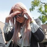 Actress Amanda Bynes made her exit from the Los Angeles Sheriffs station on April 6, 2012 after being arrested last night for a DUI in West Hollywood, California. She was charged after colliding with a police car early this morning while under the influence after celebrating her 26th birthday