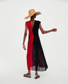 Image 6 of TWO-TONE DRESS from Zara