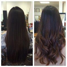 Resultado de imagem para balayage long hair brown