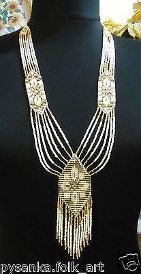 Ukrainian Handmade Jewelry Beaded Necklace ,Gerdan. Herdan