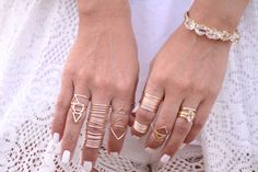 Stacked Rings // http://www.missesdressy.com/blog/accessory-report-stacked-rings.html