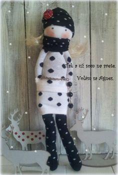 bábika z ponožiek., Šitie, fotopostup - Artmama.sk