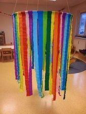 Color crepe paper shower decoration - Pin- Farbdusche-Deko aus Krepppapier – Pin Color shower decoration made of crepe paper – # # claims reflect # # Claims to think funny - Diy For Kids, Crafts For Kids, Diy Carnival, Carnival Rides, Kindergarten Lesson Plans, Crepe Paper, A4 Paper, Paper Pin, Diy Halloween