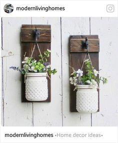 Wall planters - DIY with mason jars!