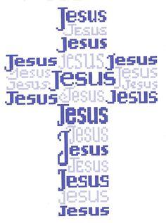 Cross of Christ Jesus Cross Stitch Pattern by flowergardens, $3.00