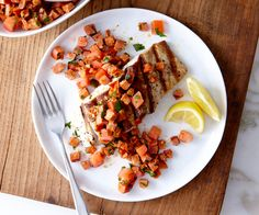 Grilled Bluefish with Smoky Chouriço Relish