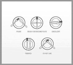 Did you know? The way you set your utensils during a meal indicates what stage of the meal you're at.