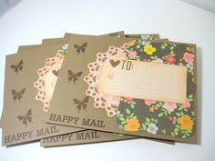 Etsy Transactie -     Set of 6 envelopes,  A1 envelopes, snailmail envelopes,happy mail envelopes,  penpal envelopes, decorated envelopes, envelopes, envelope set