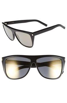 6dc5ff046b17 Free shipping and returns on Saint Laurent 59mm Sunglasses at Nordstrom.com.  Flat-