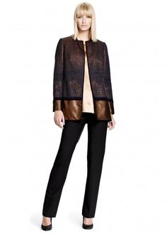 Coppered Ombre Camila Coat and Italian Stretch Wool Barrow Pant
