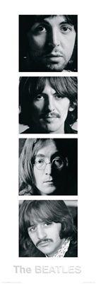 The Beatles WHITE ALBUM PORTRAITS Huge Door-Sized Poster - John, Paul , Ringo, & George