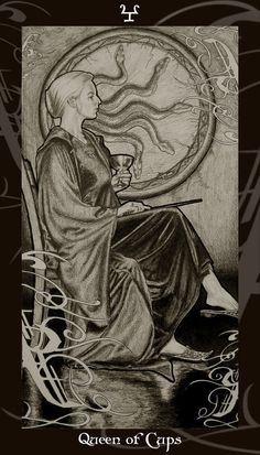 HP Tarot - Queen of Cups by *Ellygator