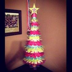 Homemade christmas tree and star
