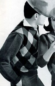 Man's Argyle Pullover Pattern | Knitting Patterns