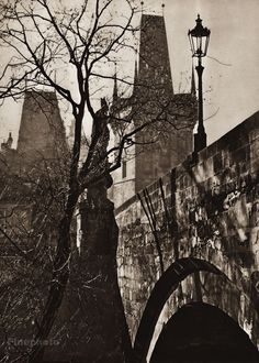 Karel Plicka shot fine monochrome photographs of Prague from the and documented a dark and mysterious Prague, a gothic and baroque Praha which. Prague Czech, Artist Painting, Vintage Images, Old World, Monochrome, Mystery, Gothic, Black And White, Artwork