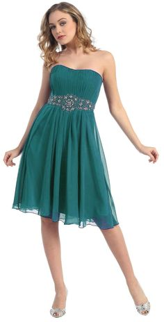 Teal green cute plus size dresses for junior teens party 2013 – 2014