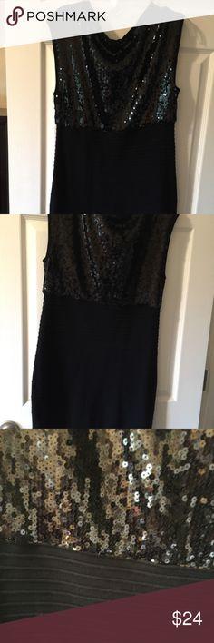 "NWT sequin black dress mini XL Cute holiday fashion dress black XL Body con Waist 31"" stretch  Length 32"" Bust 36""  Forever21 Plus Dresses Mini"