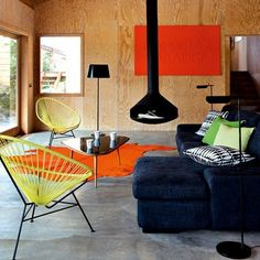 Downstairs guest house ideas - funky