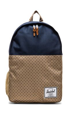 Herschel Supply Co. sac à dos jasper en Khaki Polka Dot & Navy | REVOLVE