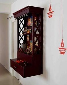 Best 5 pooja room designs for Indian homes - Truww Indian Home Interior, Indian Home Decor, Home Interior Design, Indian Room, Interior Designing, Temple Design For Home, Home Temple, Temple Room, Mandir Design