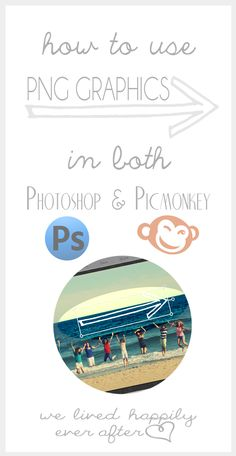 How to use Photoshop or Picmonkey to layer transparent (PNG) images on top of each other